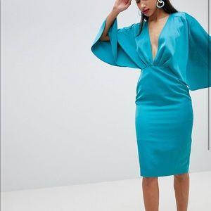 ASOS satin midi dress - Sz 4 - NWT - beautiful!